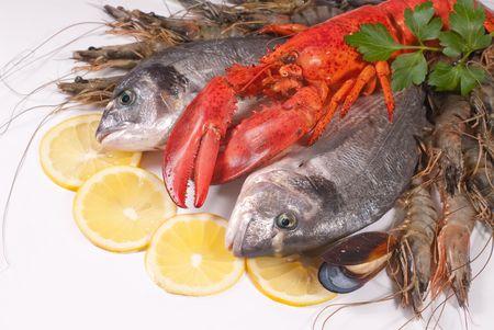 marine crustaceans: seafood Stock Photo