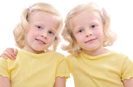 blonde twins girls Stock Photo - 5262763