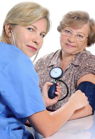 measuring blood pressure  photo