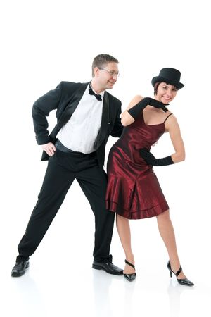 Attractive couple dancing Stock Photo - 6315760