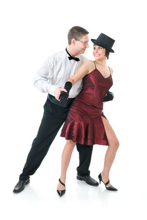 Attractive couple dancing photo