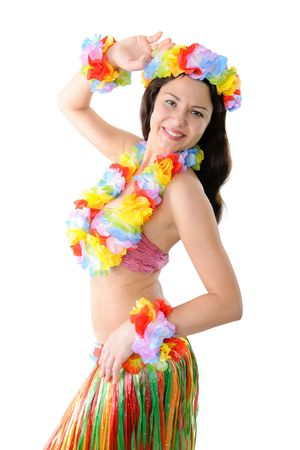 portrait of a Hawaiian hula girl photo
