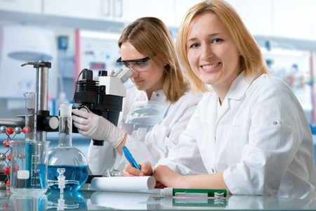scientists working at the laboratory photo