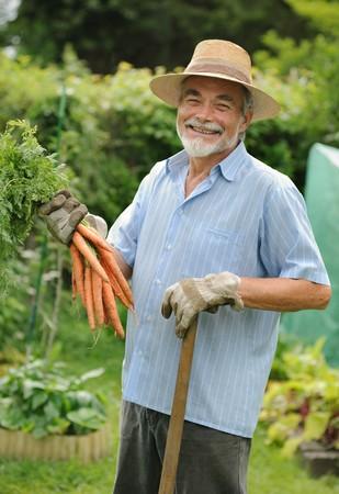 Senior gardener photo