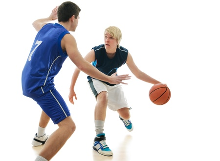 offense: Partido de baloncesto Foto de archivo
