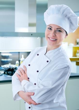 symbols commercial: female chef