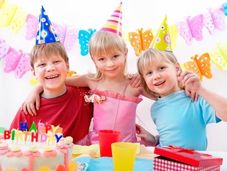 children birthday: kids celebrating birthday party