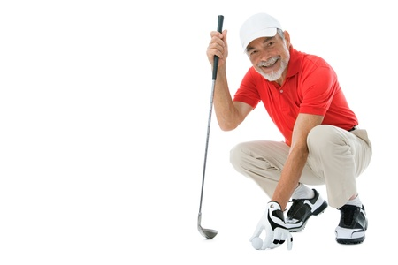 golfer isolated on a white background photo