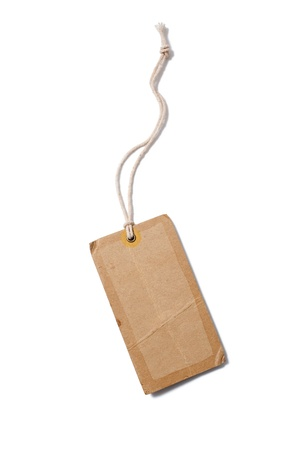 Blank tag tied with string photo
