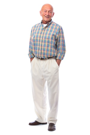 Full length portrait of handsome senior man standing photo