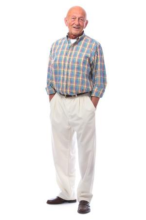 Full length portrait of handsome senior man standing