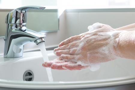 Higiene de Manos Limpieza Lavarse las manos Foto de archivo