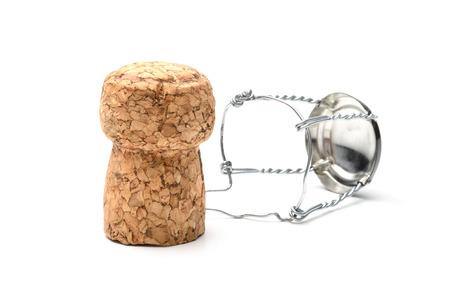 Cork aus Champagner-Flasche, auf dem weißen Hintergrund isoliert Standard-Bild - 24516662