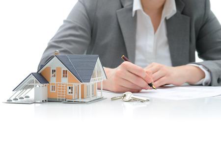 Signos Mujer acuerdo de compra de una casa Foto de archivo - 25538785