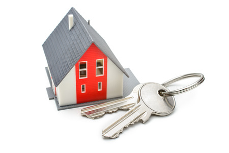 house keys: House with keys, home buying, ownership or security concept