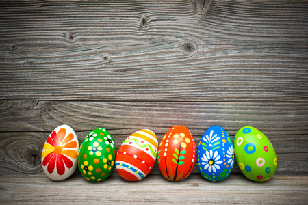 eater eggs on old wooden with copy space for your message photo