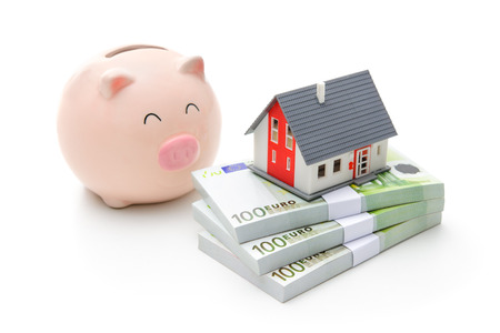 Home finances, building savings and realty investments concept