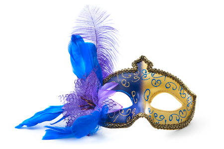 masquerade costumes: Female carnival mask isolated on white background
