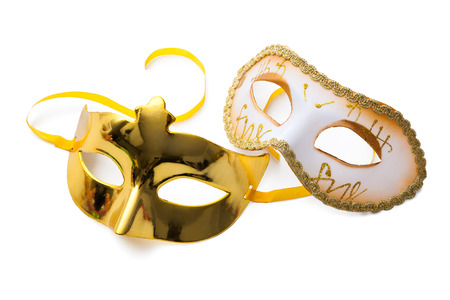 festal: Two carnival masks isolated on white background