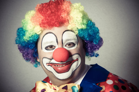 smile face: Portrait of a smiling clown