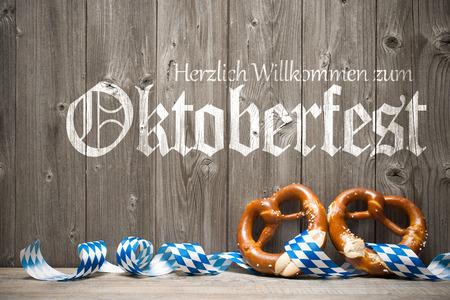 Oktoberfest german beer festival template background. Herzlich Willkommen zum Oktoberfest