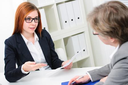 interview: Job applicant having an interview