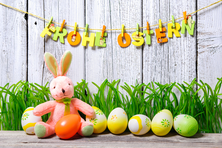 Background for Easter with german text photo