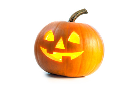 spooky: Halloween Pumpkin isolated on white background