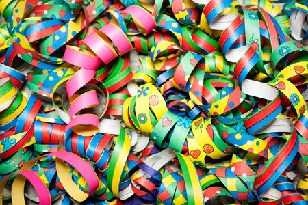 streamers: Colorful carnival streamers background texture Stock Photo