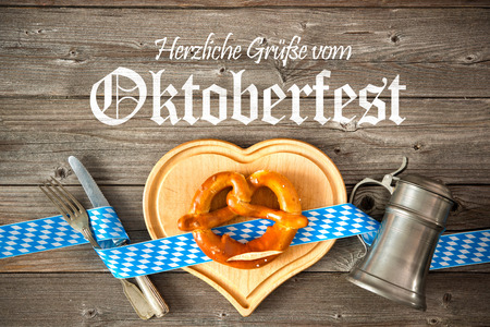 regards: Oktoberfest beer festival template background. Regards from Oktoberfest
