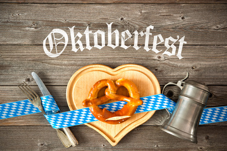 comida alemana: Oktoberfest beer festival template background