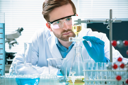 scientist working at the laboratory Stock Photo