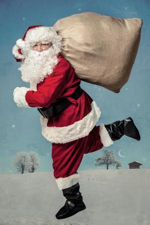 santa claus�: Funcionamiento de Pap� Noel con el saco de los regalos