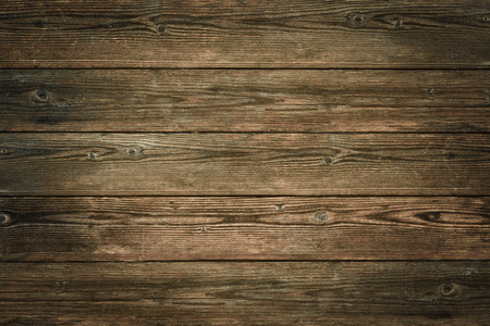 Wood texture, natural dark brown vintage wooden background Фото со стока