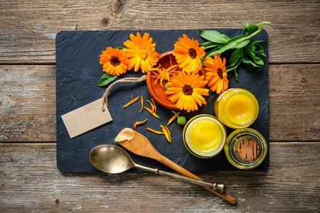 ointment: Homemade calendula ointment and oil