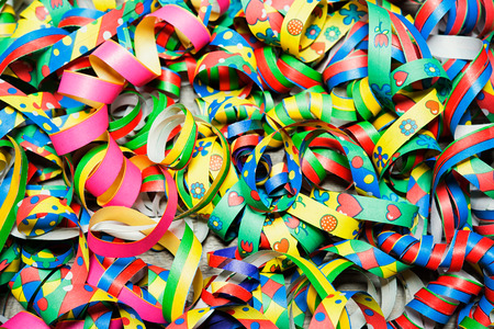 Colorful carnival streamers background texture Stock Photo