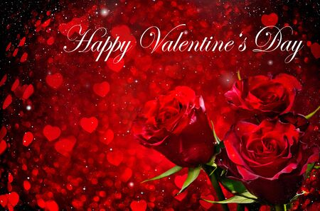 valentines background: Valentines day background with roses and hearts
