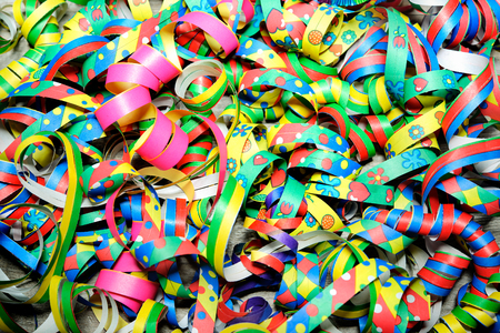 colorful abstract background: Colorful carnival streamers background texture Stock Photo