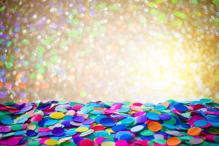 Colorful carnival background with confetti