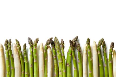Pyszne świeże szparagi na białym tle Zdjęcie Seryjne