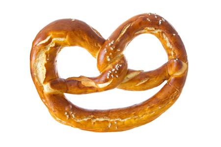 Appetizing Bavarian pretzel isolated on white background