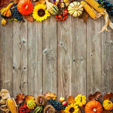 Bunte Herbst Grenze für Halloween und Thanksgiving