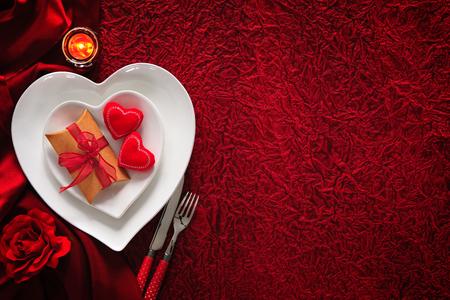 Romantische Tabelle Für Valentinstag Photo