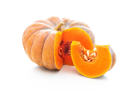 Nutmeg pumpkin isolated on white background Archivio Fotografico