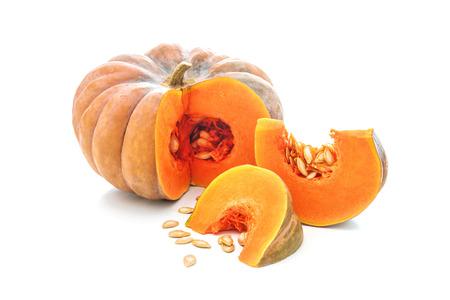 Nutmeg pumpkin isolated on white background Foto de archivo