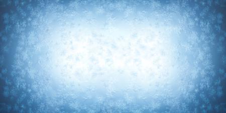 Frost patterns on a frozen window