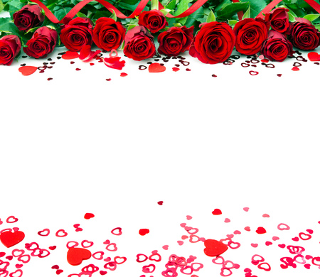 Red roses isolated on white background Stock Photo