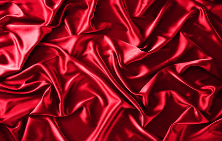 Texture of red silk satin background Stock Photo