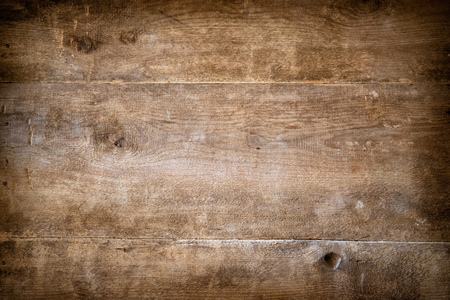 Stained wooden wall, plank wooden background, textured with grunge effects
