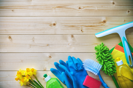 Cleaning concept. Housecleaning, hygiene, spring, chores, cleaning, cleaning supplies